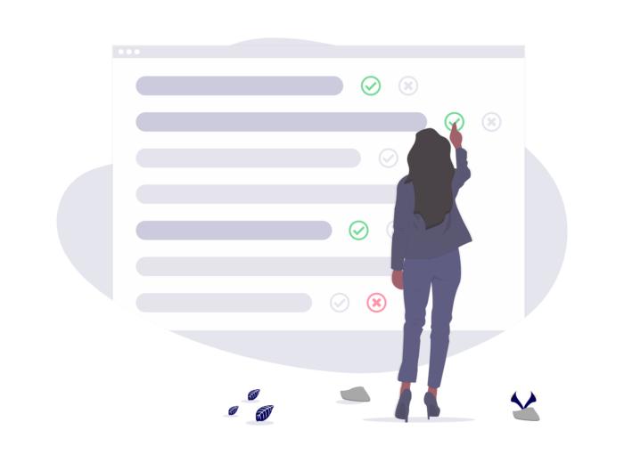 enquete de satisfaction client illustration